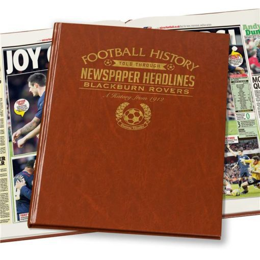 blackburn football newspaper book brown leatherette colour pages
