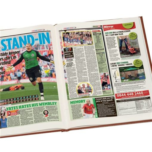 huddersfield football newspaper book brown leatherette colour pages