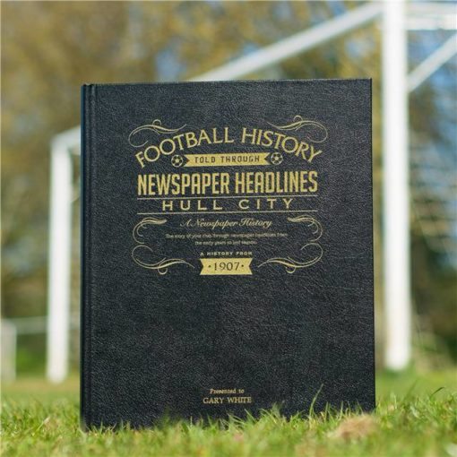 hull football newspaper book black leather cover