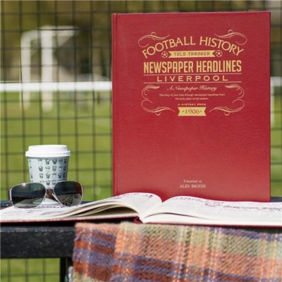 liverpool newspaper book red leather cover