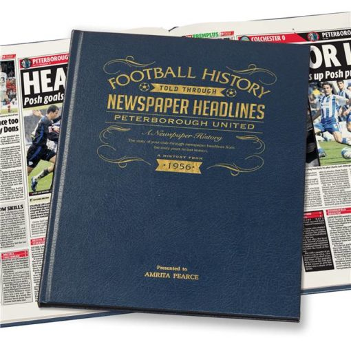 peterborough newspaper book blue leather cover