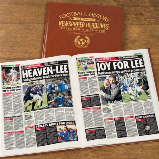 A3 Peterborough Newspaper Book - Brown Leatherette