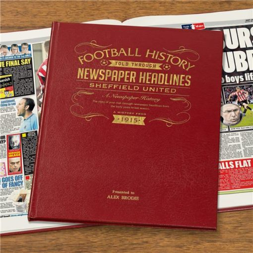 sheffield united newspaper book red leather cover