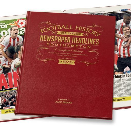 southampton newspaper book red leather cover