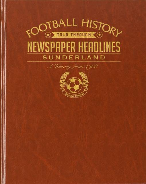 sunderland newspaper book brown leatherette colour pages