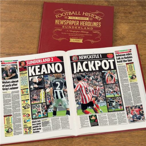 sunderland newspaper book red leather cover