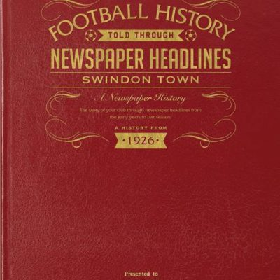 swindon newspaper book red leather cover