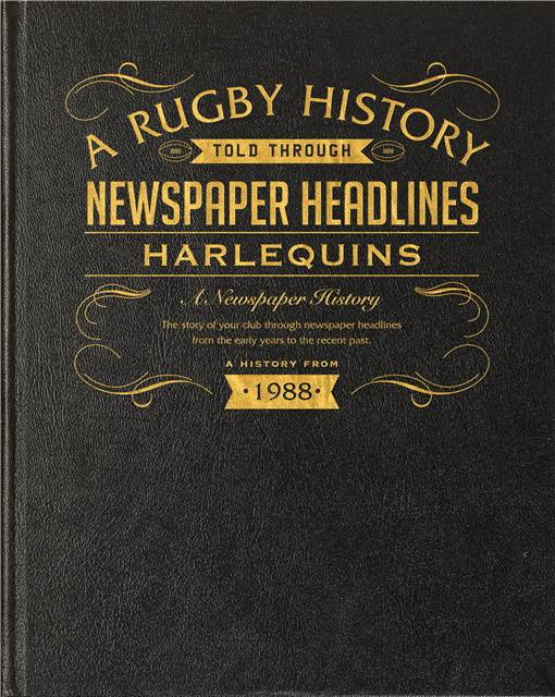 harlequins rugby newspaper book black leather cover