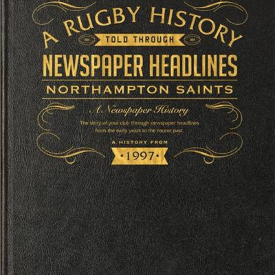 northampton rugby newspaper book black leather cover