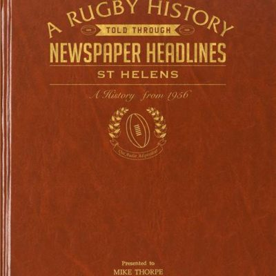 st helens rugby newspaper book brown leatherette colour pages