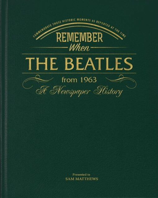 Historic Book Beatles STANDARD COVER UK ONLY