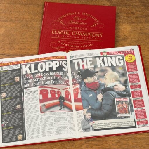 Football Book Gifts - Liverpool Champions spread