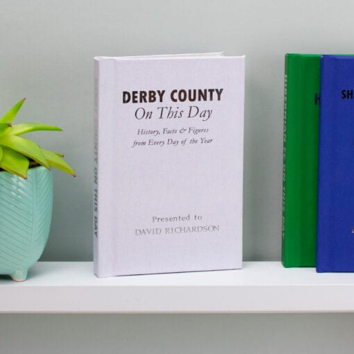 Personalised Derby County On This Day Book