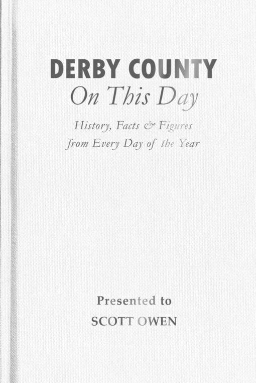 Derby County On This Day Cover flat 1