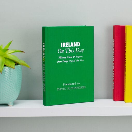 Personalised Ireland International Football On This Day Book