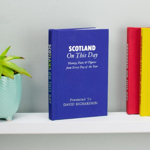 Personalised Scotland International Football On This Day Book