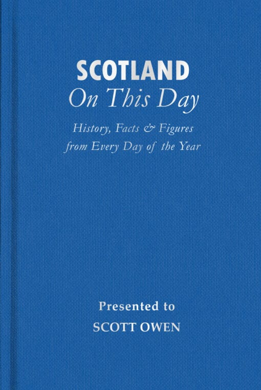 Scotland On This Day Cover flat 1