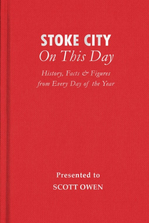 Stoke City On This Day Cover flat 1