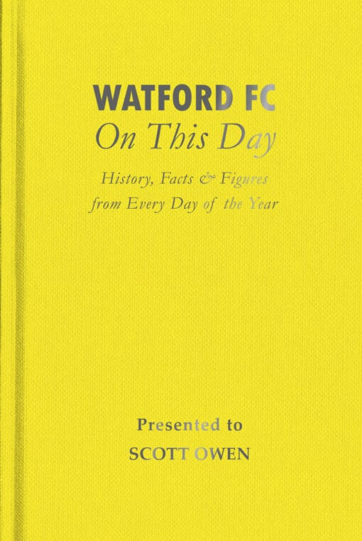 Watford FC On This Day Cover flat 1