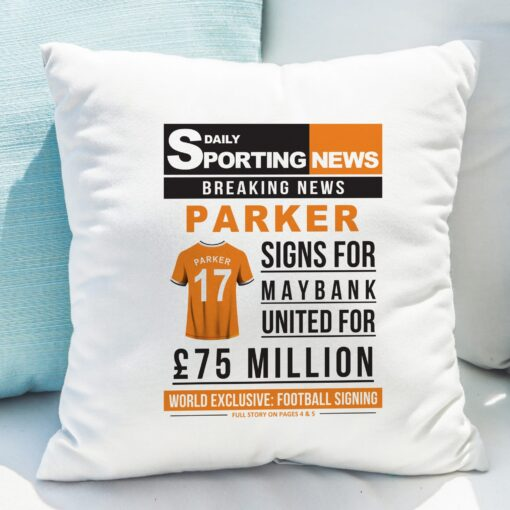 4005028 Football Signing Newspaper Cushion 10 scaled 1