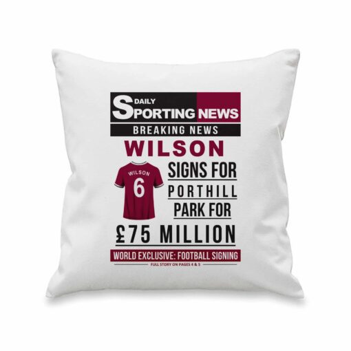4005028 Football Signing Newspaper Cushion 12 scaled 1