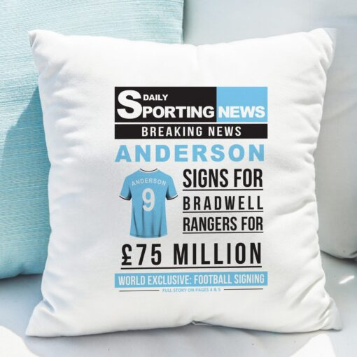 4005028 Football Signing Newspaper Cushion 6 scaled 2